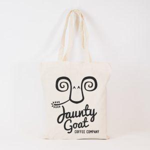 Jaunty Goat Tote Bag - Natural Canvas