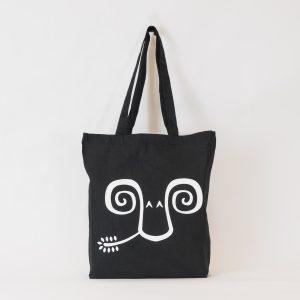 Jaunty Goat Tote Bag - Black